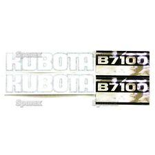 New Kubota B7100 Black/White/Silver Decal Set