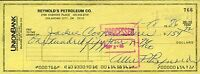 Allie Reynolds Signed Jsa Certed 1986 Check Authentic Autograph