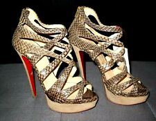 CHRISTIAN LOUBOUTIN 6in Pumps SNAKESKIN Authentic PYTHON Size 39 US 8-8.5 HEELS