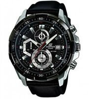 CASIO EFR-539L-1AVUDF Chronograph Watch EDIFICE Leather Band Fast Ship Japan EMS