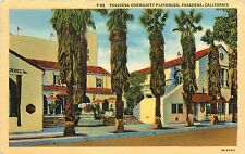 Linen Postcard; Pasadena Community Playhouse Theatre, Pasadena CA Posted