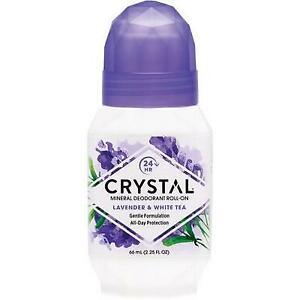 CRYSTAL ESSENCE Roll-on Deodorant Lavender & White Tea 66ml