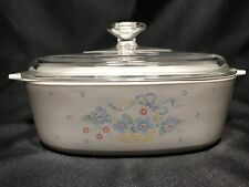 Vintage Corning Ware Country Cornflower 2 Liter Covered Casserole