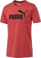 Puma Mens Essential Red Heather Lightweight Regular Fit SS T Shirt Tee Bnwt New
