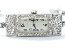 "Vintage Concord Platinum / 14Kt NATURAL Diamond Wristwatch 7"" 2.00CT"