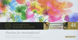 Mungyo Gallery Artists' Watercolor Pan Set 48 Assorted Colors Half Pan MWPH-48