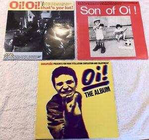 Oi ! The Album, Son Of Oi! & Oi! Oi! That's Yer Lot! Punk Vinyl LPs