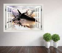 Fighter Jets 3d style window wall sticker design bedroom (10642836ww) Aircraft