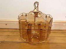 Old Vintage Gold Plated Chandelier