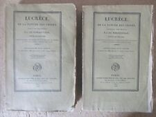 LUCRECE DE LA NATURE DES CHOSES 1828 LATIN FRANCAIS 6 ILLUS. EPICURE PHILOSOPHIE