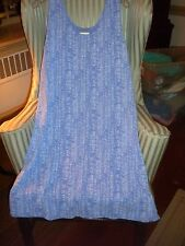 "NWT FRESH PRODUCE COTTON S/S ""HAPPY LIFE""  DESIGN SUNDRESS IN PERIWINKLE...(L)"