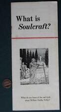 1940s Anti-FDR Facist Leader William Dudley Pelley Soulcraft ghosts-UFO booklet!