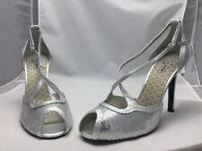 Oh Deer Shoes Gelato Sliver Open Toe Sequin 11M 416389