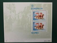 Portugal Acores - 1981  - Europa miniature sheet MNH