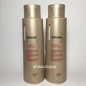 Goldwell Kerasilk Ultra Rich Keratin Care Daily Mask 16.9 oz / 500 ml - Set Of 2