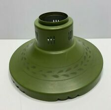 Vintage Metal Lamp Shade Green Gold Retro Midcentury Modern Round Replacement