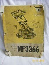 Mf3366 Loader repair parts book Construction machinery