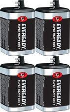 4 Eveready 1209 Zinc-Carbon Super Heavy Duty Lantern 6 Volts Batteries