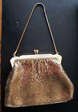 vintage gold chain mail metal mesh evening bag