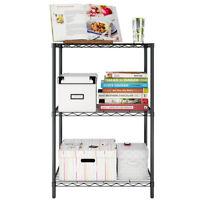 3 Tier Metal Wire Shelving Shelves Organizer Units Bathroom Kitchen Storage Rack