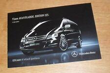 MERCEDES Viano Avantgarde Edition 125 BROCHURE 2011 - 3.0 CDI V6