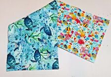 Handmade Quilted Table Runner Ocean Sea Turtles Under the Sea Tropical fish