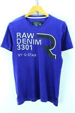 G-Star Men's Crew Neck T-shirt Size L Purple Short Sleeve Cotton Tee EF2368