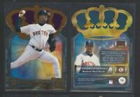 2001 PACIFIC GOLD CROWN DIE CUTS PURPLE FOIL #10 PEDRO MARTINEZ RED SOX SP #3/50