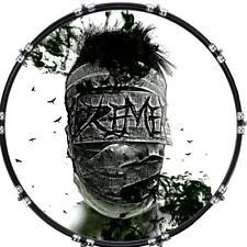 "Custom 22"" Kick Bass Drum Head Graphical Image Front Skin Terror 1"