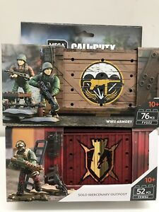 MEGA CONSTRUX CALL OF DUTY SOLO MERCENARY OUTPOST & WWII ARMORY