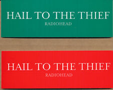 Radiohead Hail to the Thief RARE promo sticker set 2003 (2 different colors)