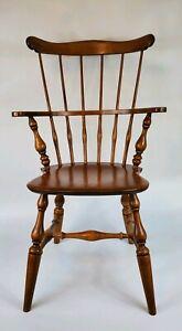 Ethan Allen Heirloom Comb Back Mate's Chair Maple #10-6040 #211 Nutmeg See Desc