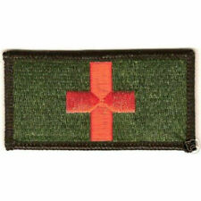 Red Cross Combat Medic Corpsman EMT Rescue Badge Military Patch - Green