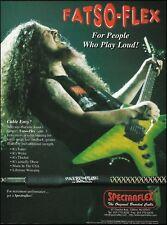 Dimebag Darrell Spectraflex Fatso-Flex cable on Washburn guitar 8 x 11 ad print