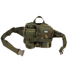 MFH Militaire Taille Sac + Bouteille Pêche Police Chasse Voyage Paintball Noir