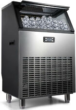 Commercial Ice Maker - Produces 200lbs Of Ice In 24 Hrs With 55lbs Storage Bin