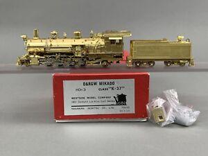 BT - HOn3 Brass Train - WMC Westside D&RGW K37 Mikado 2-8-2 - Unpainted