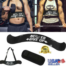 Biceps Isolator Strap Triceps Curl Bar Arm Isolator Weight Lifting Body Building