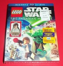 LEGO STAR WARS - NEW - BLU-RAY & DVD THE PADAWAN MENACE - YOUNG HAN SOLO FIGURE