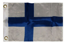 """12x18 12""""x18"""" Country of Finland Boat Motorcycle Flag Grommets"""