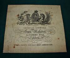 Charles BOSWELL gunmaker riproduzione carta Gun Case Accessori etichetta