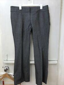 Ann Taylor LOFT Marisa Women's Career Pants Bootcut Dress Gray Tweed Size 16 NWT