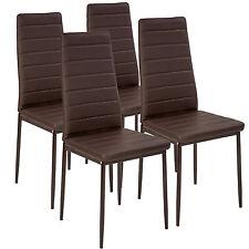 4x Esszimmerstuhl Set Stühle Küchenstuhl Hochlehner Wartezimmer Stuhl braun neu