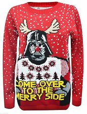 Mens Women Unisex Christmas Star Wars come over to marry side print jumper