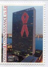 19702) UNITED NATIONS (Geneve) 2002 MNH** Nuovi** UN AIDS.