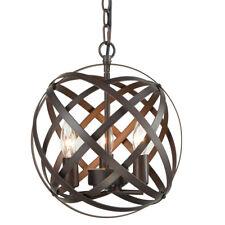 Atom Axis Globe Metal Orb Chandelier Ceiling Pendant Hanging Light Fixture