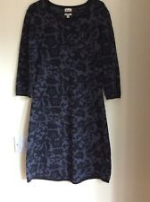 Yumi Knitted Dress Size 14 See Photos Black & Grey With Slight Sparkle