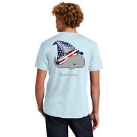 Hook N Buoy American Flag Whale Sailboat Front and Back Unisex T-Shirt