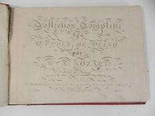 Rare Partition Gravée W. A. MOZART Musique Oeuvres piano Richomme Pleyel 1805