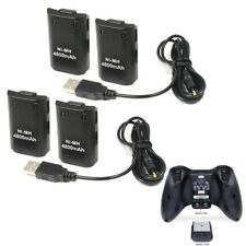 4X Rechargeable 4800mAh Battery Pack + Play&Charge Cable for Xbox 360 Controller